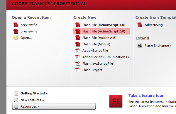 ActionScript Flash File