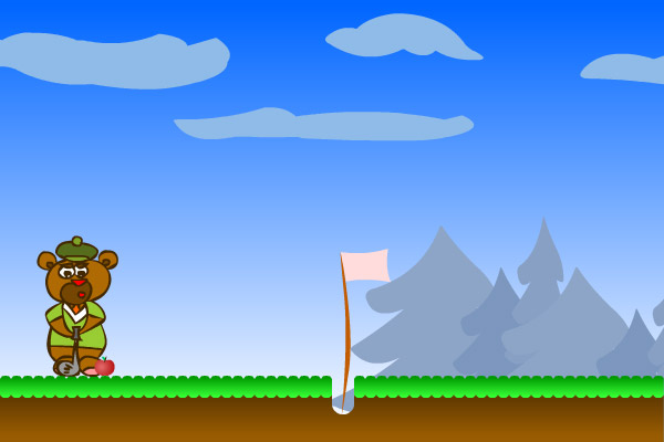 Mini golf flash game