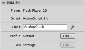 flash clock analog